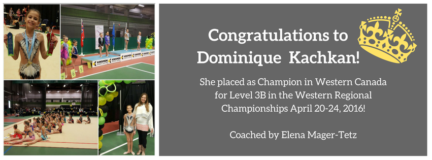 Congratulations to Dominique